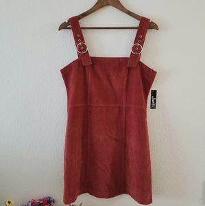 NWT Justify Corduroy Jumper Dress